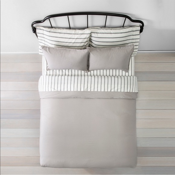 Hearth & Hand FULL/QUEEN Linen Blend Duvet Set